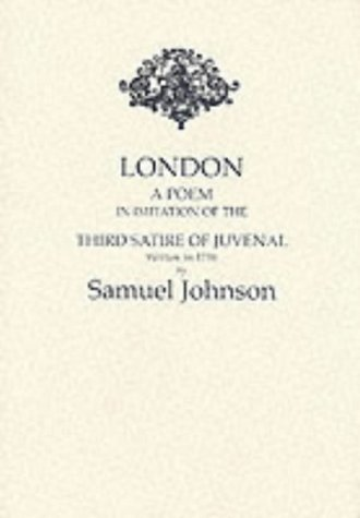 9780948807350: London: A Poem - In Imitation of the Third Satire of Juvenal