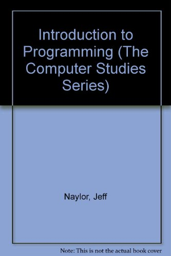 9780948825453: Introduction to Programming (The Computer studies series)