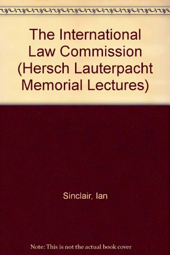 9780949009104: The International Law Commission