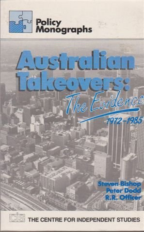 9780949769367: Australian Takeovers: The Evidence 1972 - 1985