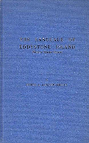 The language of Eddystone Island (western Solomon: Lanyon-Orgill, Peter Antony