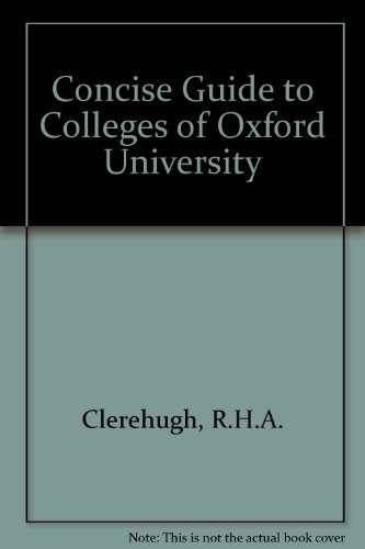 9780950154435: Concise Guide to Colleges of Oxford University