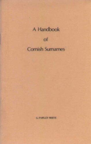 9780950268101: Handbook of Cornish Surnames