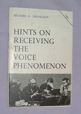 9780950294407: Hints on Receiving the Voice Phenomenon