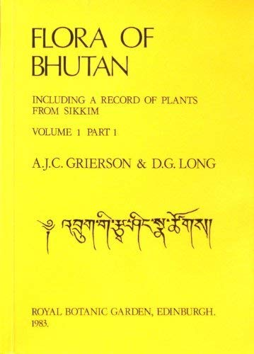9780950427010: Flora of Bhutan: v. 1, Pt. 1: Including a Record of Plants from Sikkim
