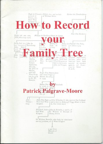 9780950629018: How to Record Your Family Tree