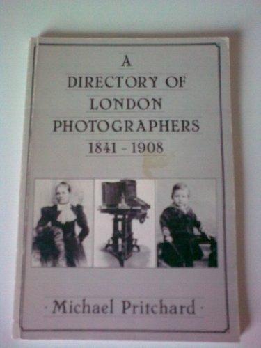 9780950678443: Directory of London Photographers, 1841-1908