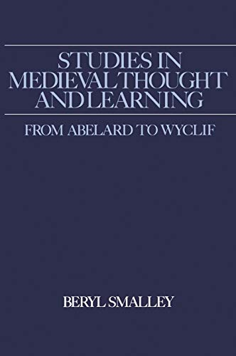 9780950688268: Studies in Medieval Thought and Learning From Abelard to Wyclif (Hambledon Press History Series)