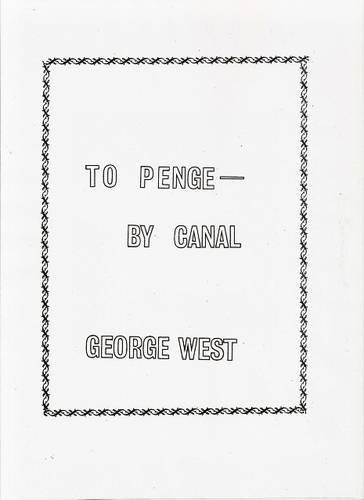9780950833477: To Penge by Canal
