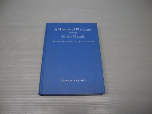 9780950837505: History of Platinum and Its Allied Metals