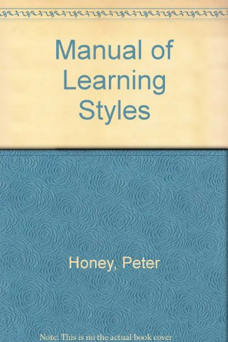 9780950844428: Manual of Learning Styles