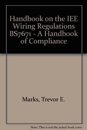 Fabulous 9780951015650 Handbook On The Iee Wiring Regulations Bs7671 A Wiring 101 Jonihateforg