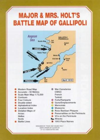 9780951130087: Major and Mrs Holt's Battle Map of Gallipoli (Major and Mrs Holt's Battle Maps)