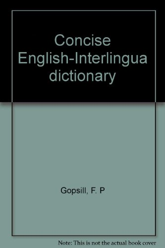 9780951169506: Concise English-Interlingua dictionary