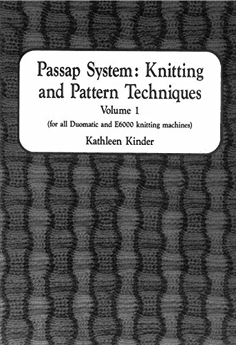 9780951252758: Passap System Knitting and Pattern Techniques: v. 1: For All Duomatics and E6000 Knitting Machines