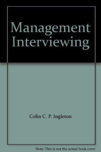 Management interviewing: Ingleton, Colin C. P