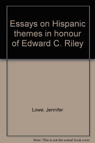 9780951447604: Essays on Hispanic themes in honour of Edward C. Riley