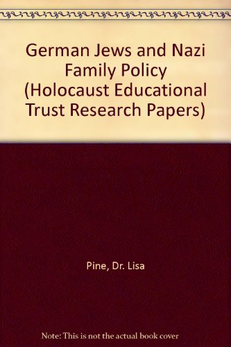 9780951616680: German Jews and Nazi Family Policy (Holocaust Educational Trust Research Papers)