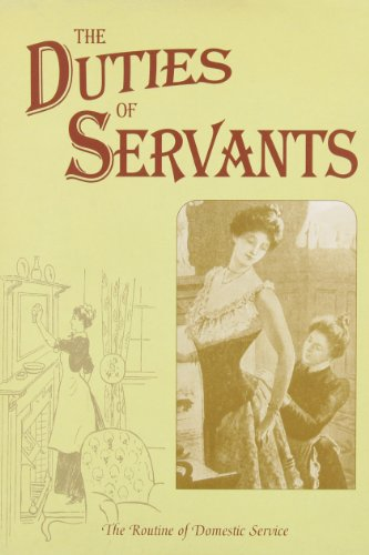 9780951629598: The Duties of Servants (Above and Below Stairs) (Above & Below Stairs)