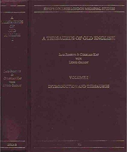 9780952211907: Thesaurus of Old English (King's College London Mediaeval Studies)