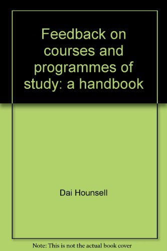 9780952395676: Feedback on courses and programmes of study: a handbook