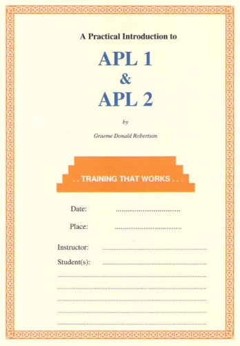 9780952416715: APL 1 and APL 2: A Practical Introduction