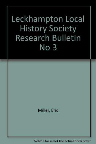 9780952420040: Leckhampton Local History Society Research Bulletin No 3