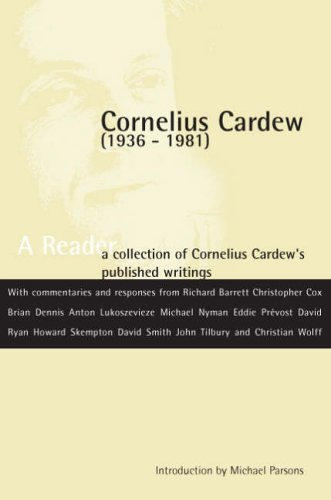 9780952549222: Cornelius Cardew: A Reader