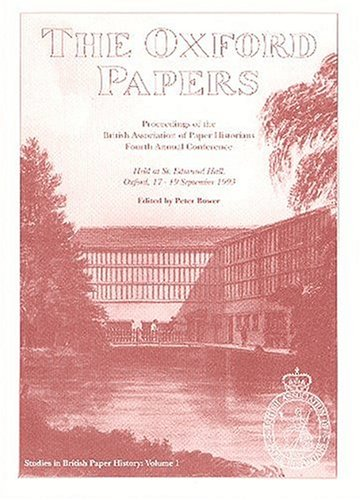 9780952575702: The Oxford Papers, Studies in British Paper History
