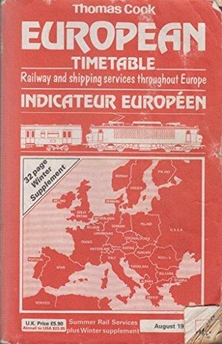 Thomas Cook European Timetables: Monthly