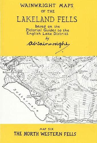 9780952653011: Wainwright Maps of the Lakeland Fells: North Western Fells Map 6