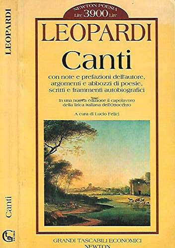 9780952926108: Canti: Selected and Introduced by Franco Fortini (Publications of the Foundation for Italian Studies, University College, Dublin) (English and Italian Edition)