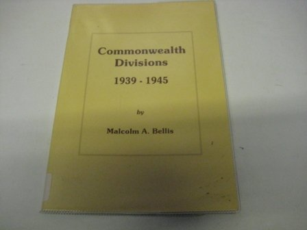 9780952969303: Commonwealth Divisions 1939-45 (Datafile)