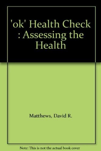9780953001101: 'OK' Health Check: Assessing the Health Care Needs of People with Learning Disabilities