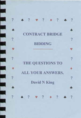 9780953137282: Contract Bridge Bidding: The Questions to All Your Answers