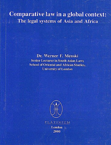 9780953572816: Comparative Law in a Global Context: The Legal Systems of Asia and Africa