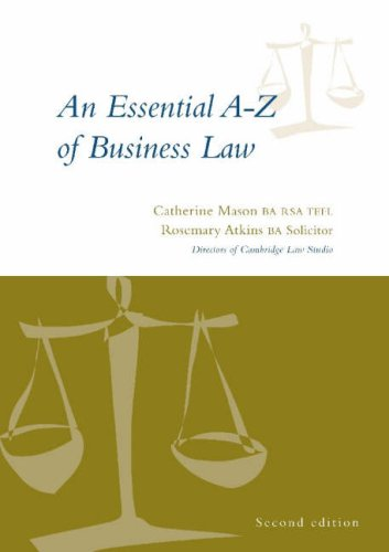 9780953765324: An Essential A-Z of Business Law