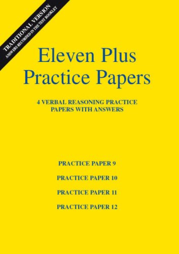 9780953848775: Eleven Plus Verbal Reasoning Practice Papers 9 to 12