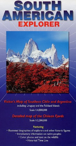 9780953861866: South American Explorer: Visitor's Map of Southern Chile and Argentina Including the Chilean Fjords