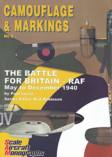 Battle of britain--RAF. May to December 1940. Camouflage & Markings No. 2. Scale Aircraft Monographs