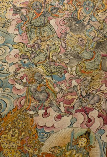 Tibetan Elemental Divination Paintings: Illuminated Manuscript from