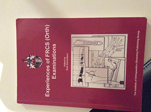 9780953998296: Experiences of FRCS(Orth) Examinations