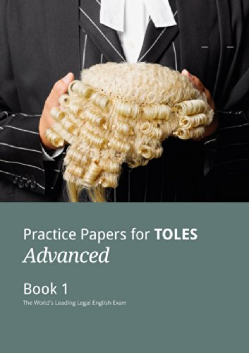 9780954071448: Practice Papers for TOLES Advanced Book One