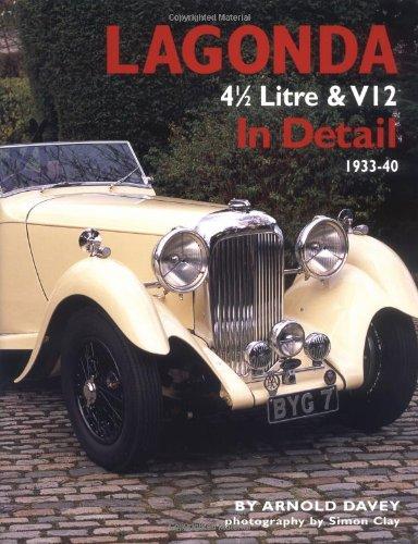 9780954106355: Lagonda 4 1/2 Litre & V12 In Detail: 1933-1940