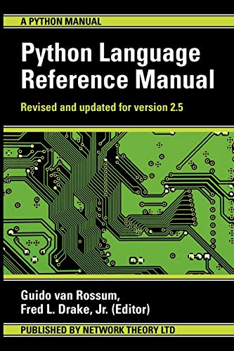 9780954161781: The Python Language Reference Manual