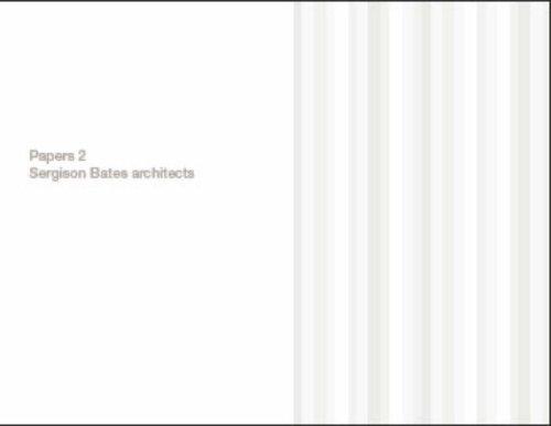 9780954237110: Papers 2: Sergison Bates Architects