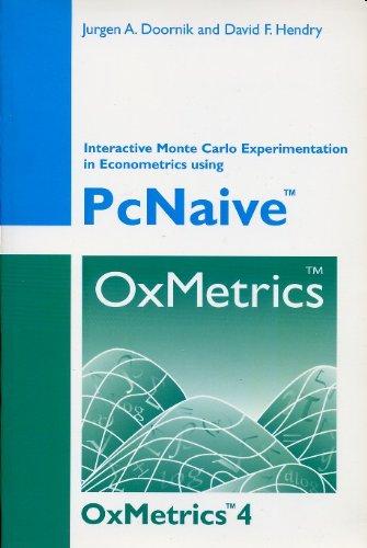 9780954260378: PcGive 11: Volume IV, Interactive Monte Carlo Experimentation in Econometrics Using PcNaive 4