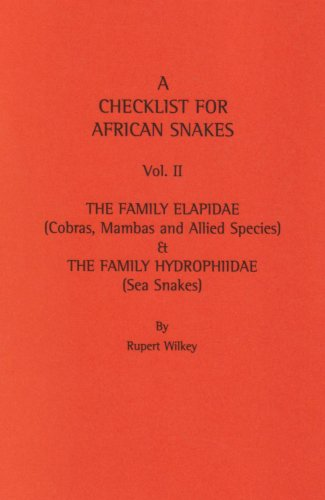 9780954298326: A Checklist for African Snakes: Family Elapidae, The Family Hydrophiidae v. 2