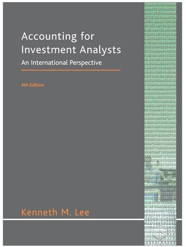 9780954449636: Accounting for Investment Analysts: An International Perspective