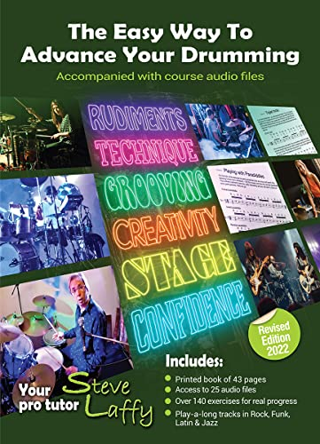 9780954492816: The Easy Way to Advance Your Drumming with play along CD (Steve Laffy's Drum Tutors)